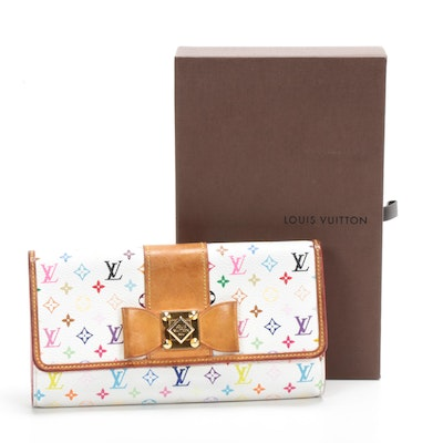 Louis Vuitton Sarah Nœud Wallet in Multicolore Canvas and Vachetta Leather