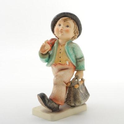 "Goebel ""Merry Wanderer"" Porcelain Hummel Figurine"