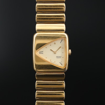 Vintage Seiko 4N00 - 5289 Gold Tone Quartz Wristwatch
