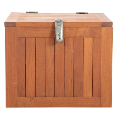 Danish Modern Style Teak Storage Cube, Mid to Late 20th Century