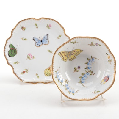 "Anna Weatherley ""Budapest Spring"" Porcelain Bread and Butter Plate and Bowl"
