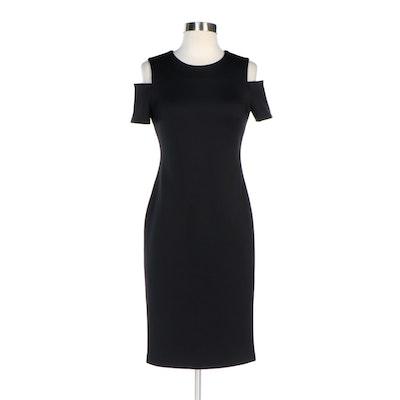Calvin Klein Cold Shoulder Black Sheath Dress