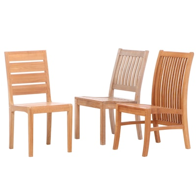 Teak Patio Side Chairs Including Gloster and Stylist