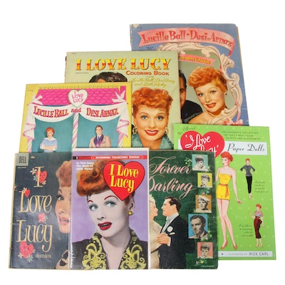 """I Love Lucy"" Lucille Ball Paper Dolls, Coloring Books, and Comics, 1954-1990"