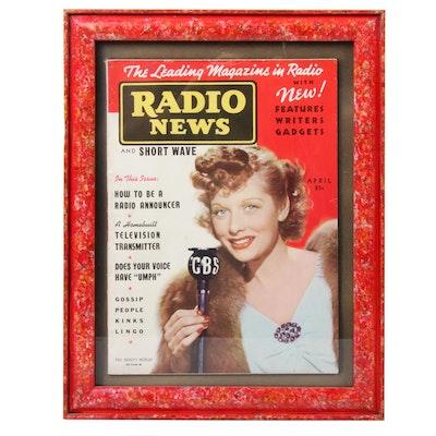 1938 Radio News Magazine Featuring Lucille Ball