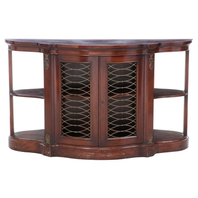 Regency Style Mahogany Console Cabinet, Mid-20th Century
