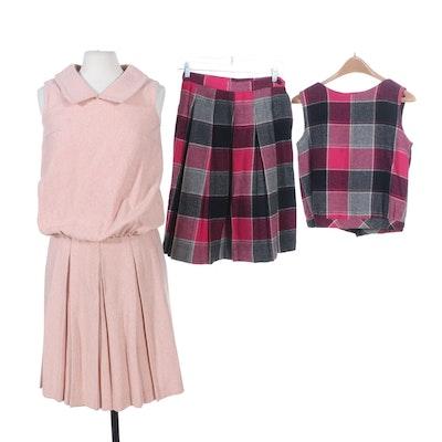 Juniorite New York and More Wool Skirt Sets, 1960s Vintage
