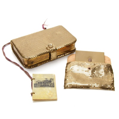 "Denison Crested ""Phi Gamma Delta"" Evening Bag, Compact and Dance Book, 1933"