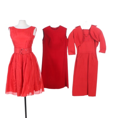 Frances Reeves, The Village Store and More Red Cocktail Dresses, Vintage