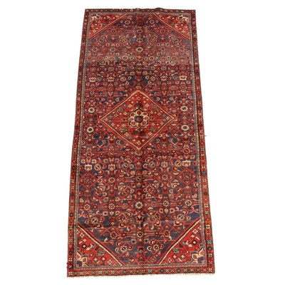 4'0 x 9'6 Hand-Knotted Persian Gogarjin Wool Rug