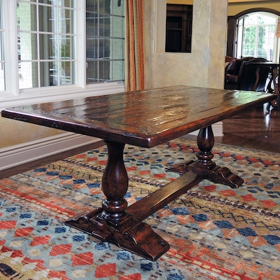 "Theodore Alexander ""Castle Bromwich"" Reclaimed Wood Trestle Table"