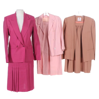 Bryn Mawr and More Suit Skirt Sets, 1970s Vintage