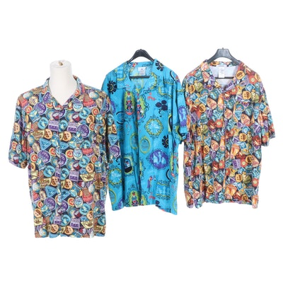 Men's Disney Parks Rides and The Haunted Mansion Hawaiian Shirts