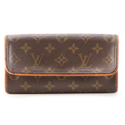 Louis Vuitton Pochette Twin PM in Monogram Canvas and Vachetta Leather