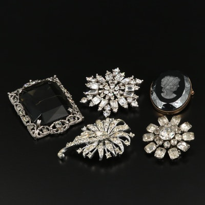 "Vintage Brooches Featuring Sarah Coventry ""Celebrity"" Glass"