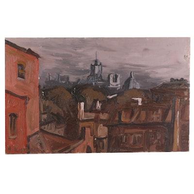 Frederick Lyman Jr. Cityscape Oil Painting