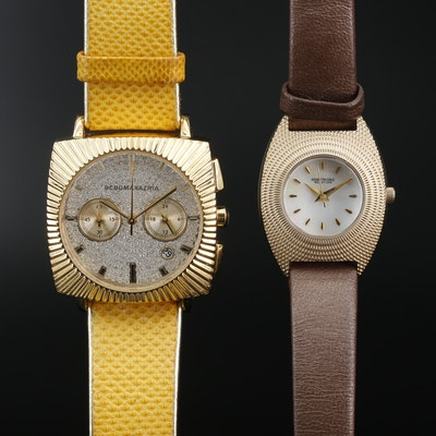 BCBG Maxazaria and Kenneth Cole Gold Tone Quartz Wristwatches