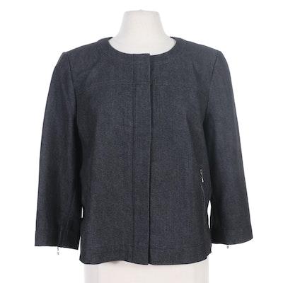 St. John Black Denim Jacket