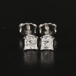 14K Gold 0.85 CTW Diamond Stud Earrings with Digital GIA Reports