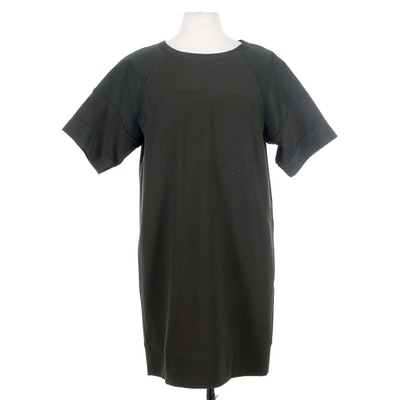 Vince Silk Blend Forest Green Tunic Dress