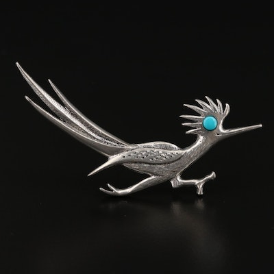 Turquoise Road Runner Brooch