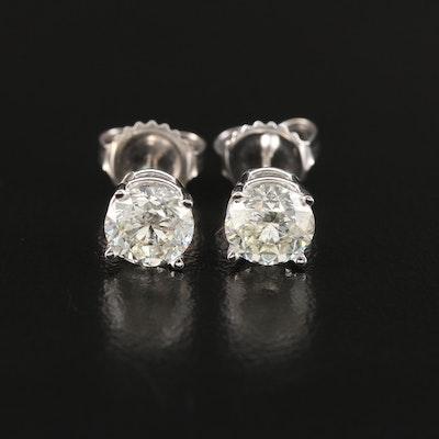 14K Gold 2.01 CTW Diamond Stud Earrings