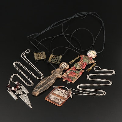 Collection of Necklaces Included Figural Pendants