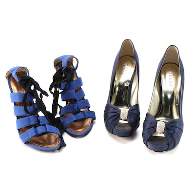 Guess and Colin Stuart Peep-Toe High Heel Pumps and Strappy Heels
