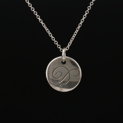 Tiffany & Co. Sterling Silver Pendant Necklace
