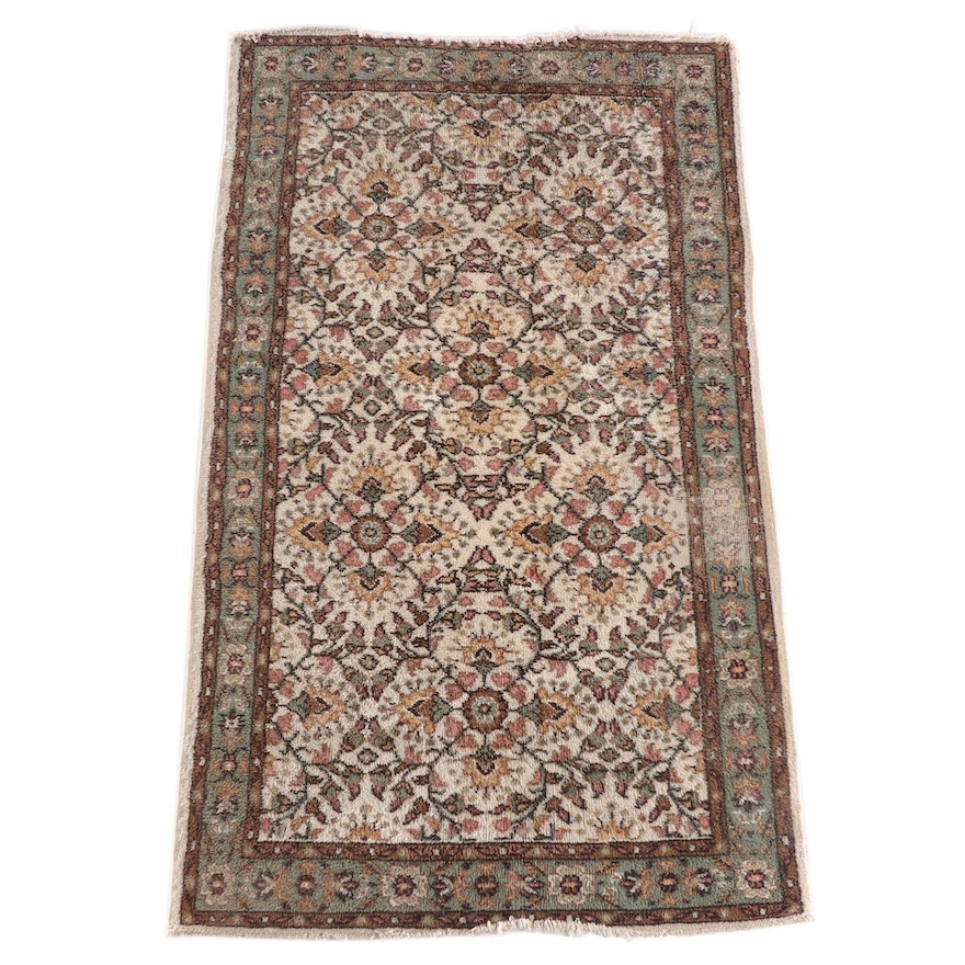 4'1 x 7'3 Hand-Knotted Indian Mahal Wool Rug