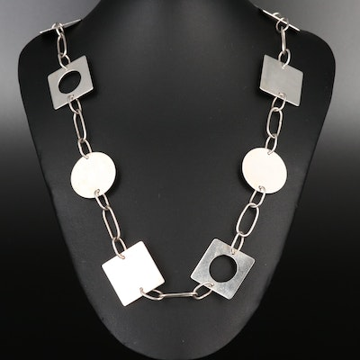 Foote Sterling Silver Geometric Necklace