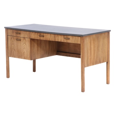 Stanley Furniture Oak Grained Desk, Late 20th Century