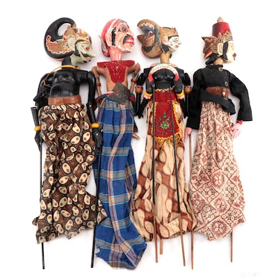 Indonesian Handcrafted Wayang Golek Puppets