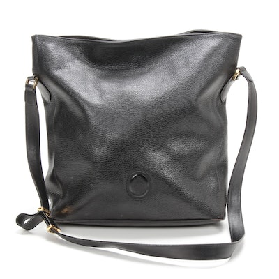 Mark Cross Black Pebbled Leather Shoulder Bag