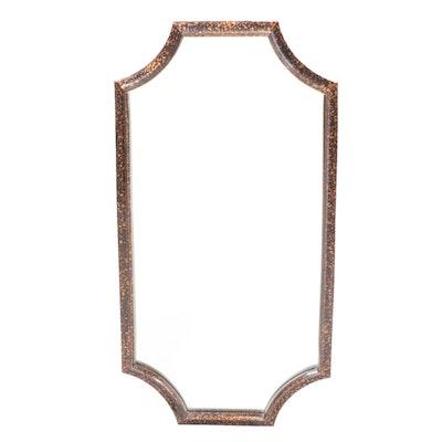 Faux Tortoiseshell Scalloped Framed Wall Mirror