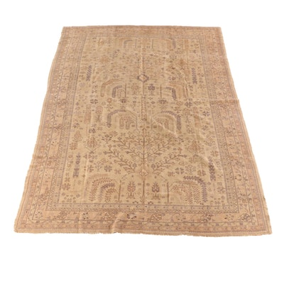 8'11 x 12'9 Hand-Knotted Turkish Oushak Wool Rug