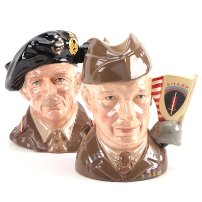 """Royal Doulton """"Eisenhower"""" and """"Field Marshal Montgomery"""" Character Jugs"""