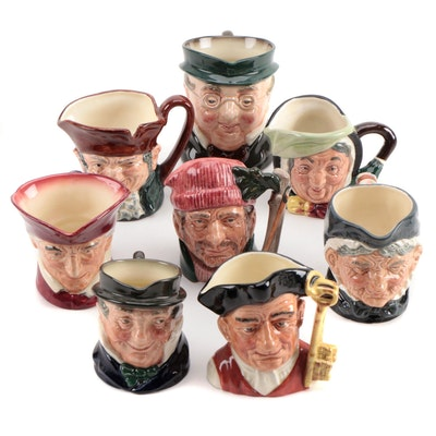 "Royal Doulton ""The Lumberjack"", ""Gaoler"", and Other Character Mugs"