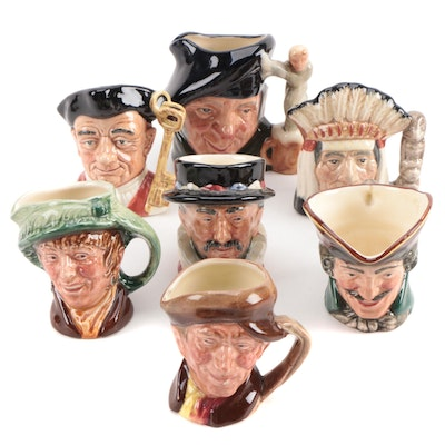 "Miniature Royal Doulton ""North American Indian"" and Other Character Mugs"