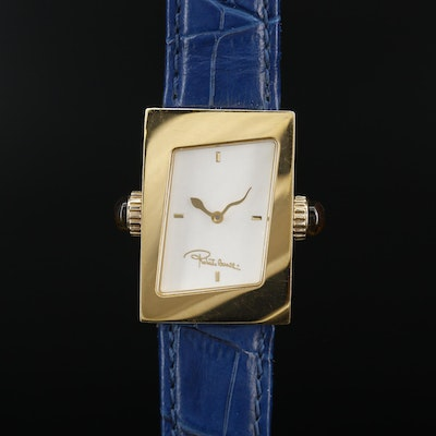 Roberto Cavalli Twist Gold Tone Quartz Wristwatch