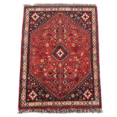 3'4 x 4'11 Hand-Knotted Persian Qashqai Wool Rug