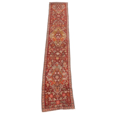 2'4 x 14'0 Hand-Knotted Turkish Oushak Wool Carpet Runner