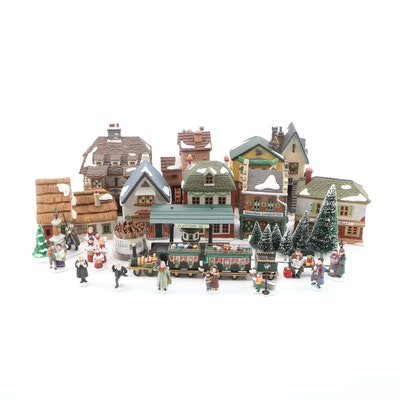 Department 56 Dickens Village Series Porcelain Lighted Christmas Table Decor