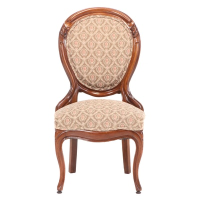Victorian, Rococo Revival Upholstered Walnut Side Chair, Late 19th Century