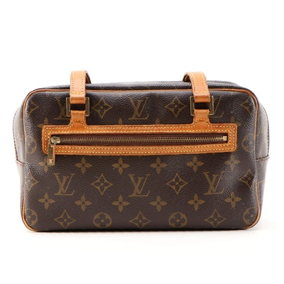 Louis Vuitton Cite MM Shoulder Bag in Monogram Canvas and Vachetta Leather