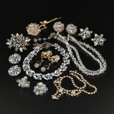 Vintage Rhinestone Jewelry Featuring Beau and Alice Caviness