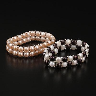 Cultured Pearl Expandable Bracelets