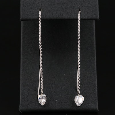 Sterling Silver Cubic Zirconia Threader Earrings