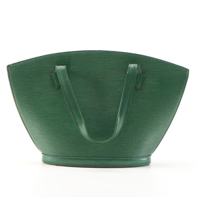 Louis Vuitton St. Jacques PM Bag in Borneo Green Epi Leather