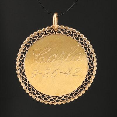 Personalized Medallion Pendant